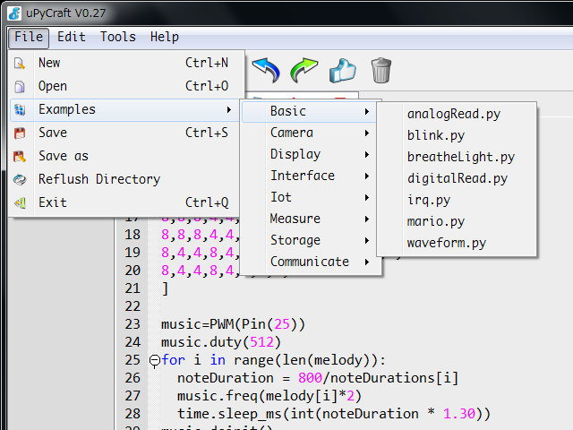 Micropython + ESP32のためのIDE「uPyCraft」を使ってみた